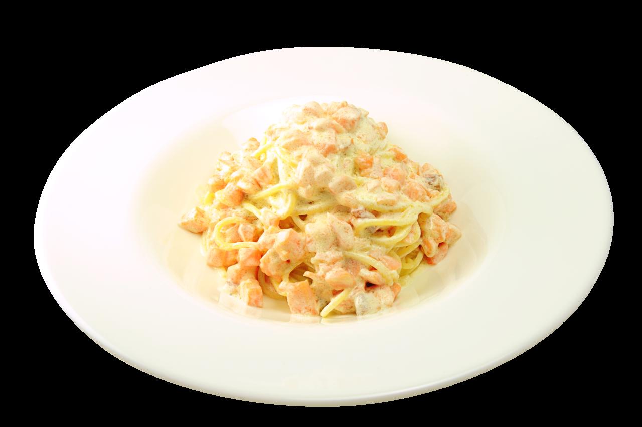 Паста с сёмгой в сливочном соусе - рецепт - Мамина печка 99